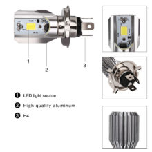 Led Motorcycle Scooter Light Bulb Motorbike h4 Led Headlight Motorcycle Hs1 Moped Light Bulbs