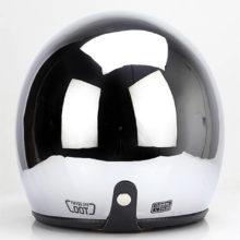 sliver chrome vespa cascos para moto cafe racer mirror